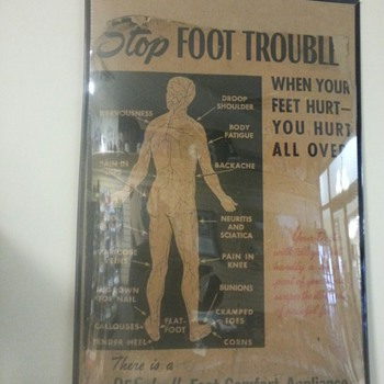 Dr Scholl Foot Comfort Appliance poster - Advertising