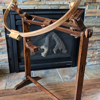 Old embroidery floor stand. - Sewing