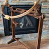 Old embroidery floor stand.