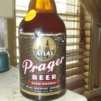 Atlas Prager Stienie bottle - Breweriana