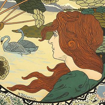 1899 Charles René Thévenin Villeroy & Boch, Mettlach Ceramic Charger - Art Nouveau