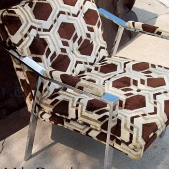 Milo Baughman Chome Side Chair -