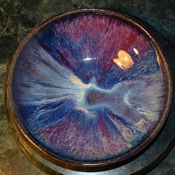 Gorgeous Glaze on this Tiny Low Bowl - Pottery
