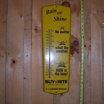 RAIN OR SHINE!  BUY RITE! - Advertising