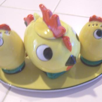 Big eyed Birds condiment sets #1