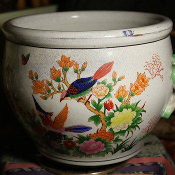 Large, Old Goldfish Bowl or Jardinere- gorgeous! - from? - Pottery