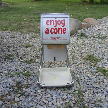 nice ice cream cone dispenser - Advertising