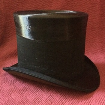 Late 1800's Vogel Brothers Mourning Top Hat - Hats