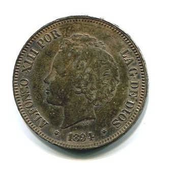 Spanish American War Spanish Ship Wreck Relic Coin - World Coins