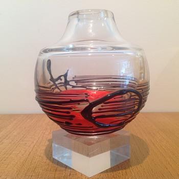 JIRÍ ŠUHÁJEK - KARLOVARSKÉ SKLO MOSER GLASSWORKS 1973 - Art Glass
