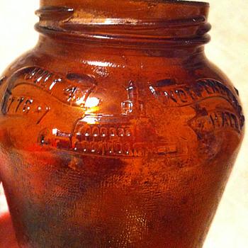 Anchor Hocking Amber Glass Jar - Glassware