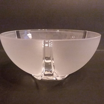 Nachtmann Marc Aurel line frosted crystal bowl - Art Glass