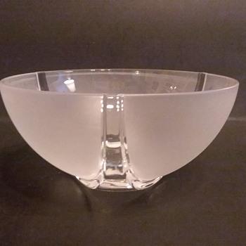 Nachtmann Marc Aurel line frosted crystal bowl - Art Glass