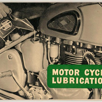 1955 - Castrol Motor Cycle Lubrication Guide - Petroliana