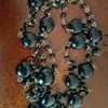 Vintage 1920's (?) LONG Black Glass beaded chain necklace