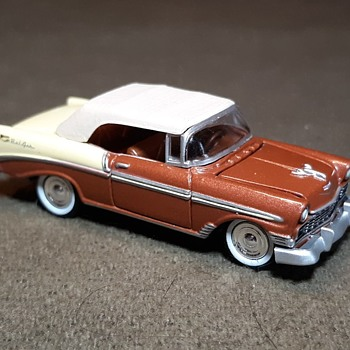 Johnny Lightning Tri-Chevy 1956 Chevrolet Bel Air 1/64 Scale - Model Cars