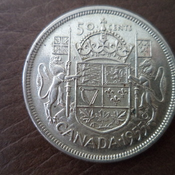 50 cents Coin - Canada 1955 - World Coins