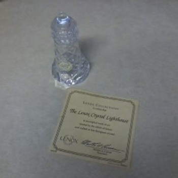 The Lenox Crystal Lighthouse