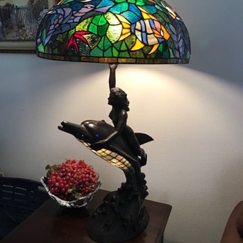 """Table lamp marked """"Judy 092/200"""" - Art Glass"""
