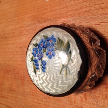 Small enamelled silver top pot  - Accessories