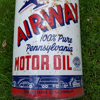 Airway Motor Oil 5 Qt Can - Petroliana