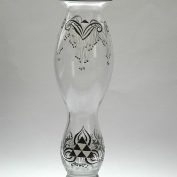 large art deco vase by SIV- Société Industrielle de Verrerie /PANTIN - Art Glass