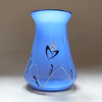 Loetz Tango vase with enamel decor  - Art Glass