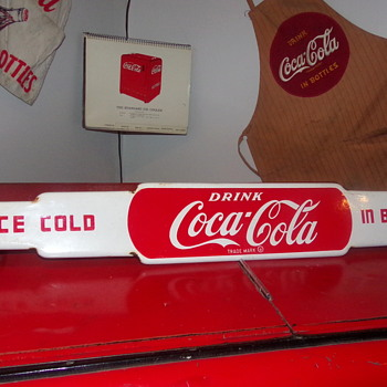 1950's Coca-Cola Porcelain Door Push - Coca-Cola