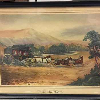 """Old lithograph titled: """"THE FAR WEST"""" by Vincent Brooks,Day & Son Litho"""