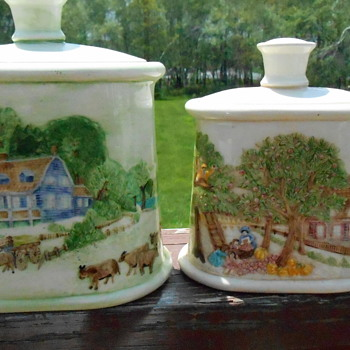 Hand Painted Canisters - Kitchen