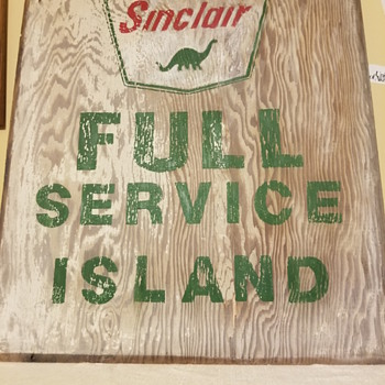 Sinclair Gas Wooden Signs - Petroliana