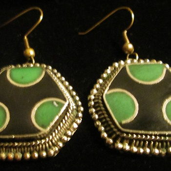 Enamel earrings - Costume Jewelry