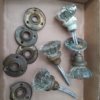 a few more old glass doorknobs - Tools and Hardware