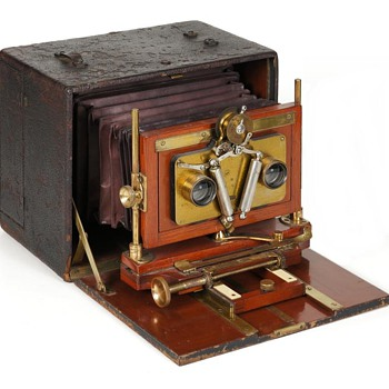 Henry Clay Stereoscopic Camera, 1892-99 (not all vintage cameras are pristine) - Cameras