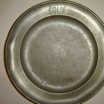 Pewter Plate from 1784!!