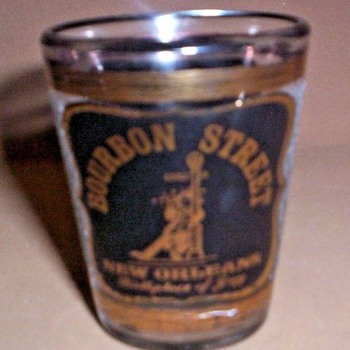 Bourbon Street (New Orleans) Shot Glass by Astar   - Glassware