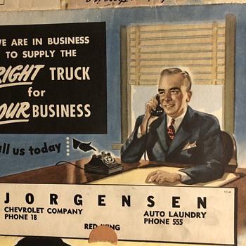"1946 Chevrolet Truck Dealership Pamphlet 20"" X 24"" - Classic Cars"