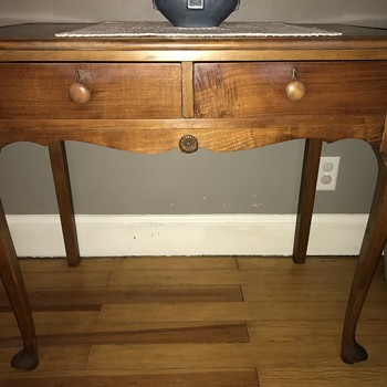 Curved Leg Antique Table (vanity?) - Furniture