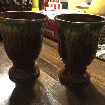 Help me identify drip glaze? Planter and One Bowl/planter - Pottery