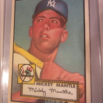 Mickey Mantle 1952 Topps card. Real or Fake
