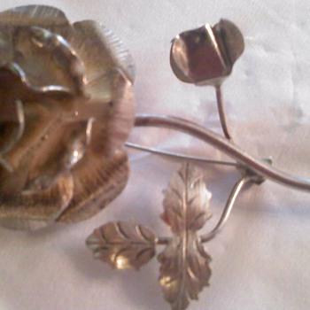Silver Flower pin
