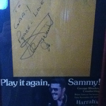 Autographed Sammy Davis Jr. Poster - Music Memorabilia
