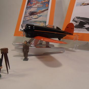Rare Wyandotte Sirius Pressed Steel Toy Airplane - Toys