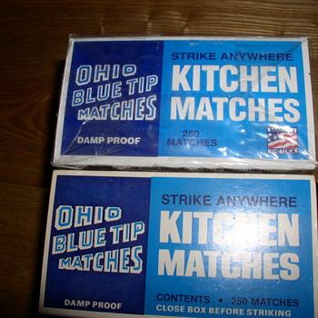 Ohio Blue-Tip Matches Strike Anywhere - Tobacciana