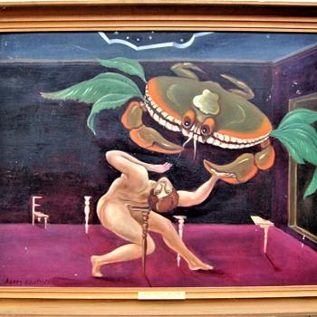 "Harry Carlsson (1891-1968): ""Night visit to Venus"". 1940. - Fine Art"