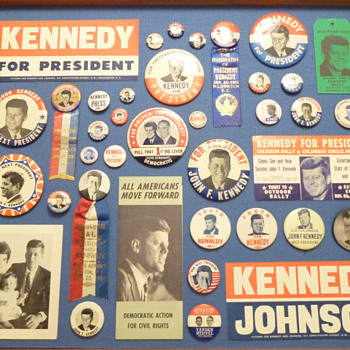 Some of my Kennedy buttons & stuff. - Advertising