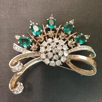 Trifari Philippe sterling brooch  - Costume Jewelry