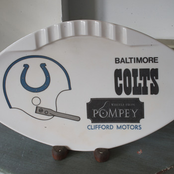 Baltimore Colts Ashtray…. - Tobacciana