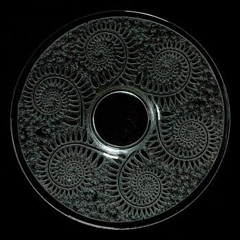 large art deco acid etched charger by DAUM NANCY - Art Glass