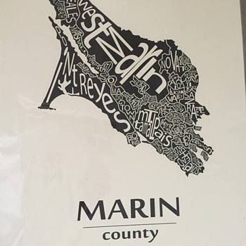Vintage Marin County Poster  - Posters and Prints